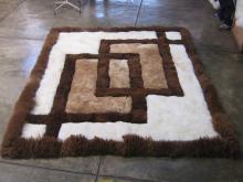 Teppich Fellteppich Alpakafell 210 x 190 cm
