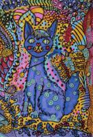 Teppich - Art - Bodenschatz für Luzern - NEU - Künstler Teppiche Katze mit einer extra Portion Farbe NP 2.260.00 €