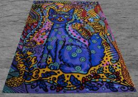 Foto 3 Teppich - Art - Bodenschatz für Luzern - NEU - Künstler Teppiche Katze mit einer extra Portion Farbe NP 2.260.00 €