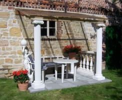 terrassen berdachung 3 x 4m mit mediterranen. Black Bedroom Furniture Sets. Home Design Ideas