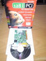 Terratec 128i PCI Soundkarte + Verpackung, Handbuch + CD intern