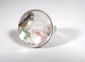 ' The beautiful Rose ' Cameo Ring