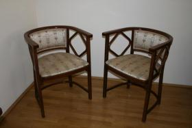 thonet jugendstil armlehnst hle in wien stuhl bank. Black Bedroom Furniture Sets. Home Design Ideas