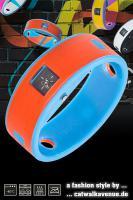 Ticcolo - Accessoires mit Zeitanzeige, Spülmaschinenfest, aus 100% Silikon (ideal für Allergiker), orange/blau