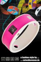 Ticcolo - Accessoires mit Zeitanzeige, Spülmaschinenfest, aus 100% Silikon (ideal für Allergiker), pink/grau