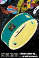 Ticcolo - Accessoires mit Zeitanzeige, Spülmaschinenfest, aus 100% Silikon (ideal für Allergiker), türkis/gelb