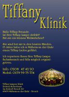 Tiffanylampen/Fenster-Klinik/Reparatur in Nrw/ Oberhausen/Essen/Duisburg/Moers