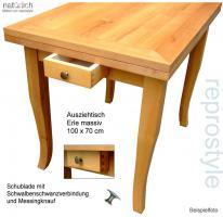 tisch tafel ausziehtisch nach ma in bernstadt ausziehbar erle holz rechteckig massiv. Black Bedroom Furniture Sets. Home Design Ideas