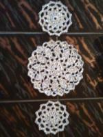 Tischdeckchen, 3er-Set silber