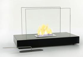 Tischkamin Glasfeuer Tischfeuer Kamin FIRE Metall / Glas