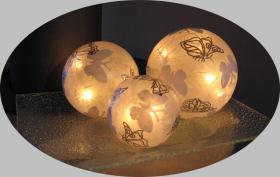 Foto 3 Tischlampe Tischleuchte Leuchtobjekt Schmetterlinge