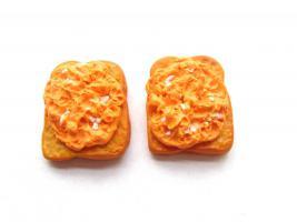 Toast mit R�hrei Ohrstecker