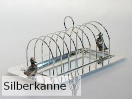 Toastständer Ente B 28cm, versilbert / SILBER plated