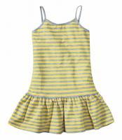 Tolles Kinder-Kleid - grau-gelb - Gr. 164/170 -  NEU