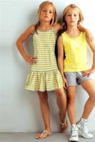 Foto 2 Tolles Kinder-Kleid - grau-gelb - Gr. 164/170 -  NEU