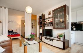 Tolles, vollmöbliertes Apartment, 34 m², mit Balkon.