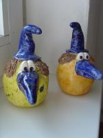 Tonfigur Keramikfigur Fantasie Vogel Gartendeko Geschenk