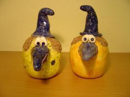 Foto 3 Tonfigur Keramikfigur Fantasie Vogel Gartendeko Geschenk
