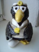 Tonfigur Keramikfigur Rabe Arzt Gartendeko Geschenk