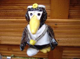 Foto 2 Tonfigur Keramikfigur Rabe Arzt Gartendeko Geschenk