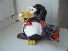 Foto 2 Tonfigur Keramikfigur Rabe Dracula Gartendeko Geschenk