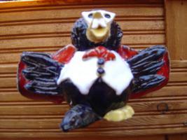 Foto 4 Tonfigur Keramikfigur Rabe Dracula Gartendeko Geschenk
