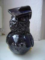 Foto 3 Tonfigur Keramikfigur Rabe Gelehrte Doktor Gartendeko Geschenk