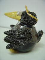 Foto 2 Tonfigur Keramikfigur Rabe Golfer mit Schläger Gartendeko Geschenk