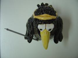 Foto 5 Tonfigur Keramikfigur Rabe Golfer mit Schläger Gartendeko Geschenk