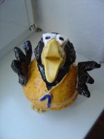 Foto 2 Tonfigur Keramikfigur Rabe Jogger Läufer Gartendeko Geschenk