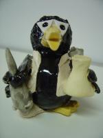 Tonfigur Keramikfigur Rabe Laborant Gartendeko Geschenk