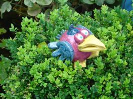 Foto 5 Tonfigur Keramikfigur Vogel Gartendeko Geschenk