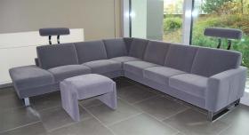 Top! 1a grosse luxuriöse Alcantara Wohnzimmer Garnitur für 6 - 7 Personen