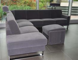 Foto 2 Top! 1a grosse luxuriöse Alcantara Wohnzimmer Garnitur für 6 - 7 Personen