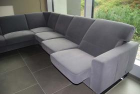 Foto 5 Top! 1a grosse luxuriöse Alcantara Wohnzimmer Garnitur für 6 - 7 Personen