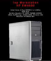 Top HP Workstation XW4600 mit satter Leistung . Inkl Quadro FX 1800 Neupreis über € 1000, - !