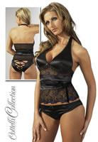 Top Set schwarz/lila