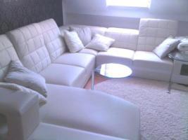 Foto 2 Top beige Designer Leder Couch / Ecksofa