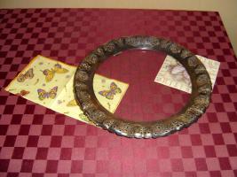 Foto 2 Tortenplatte mit Silbernen Rand