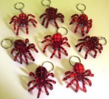 Total süsse Schlüsselanhänger Spinnen