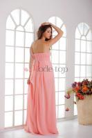Foto 3 Trägerlos plissiertes klassisches Festliche Kleid - Mode-top.de