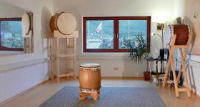 Trainingsraum für japanisches Trommeln