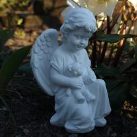 Foto 4 Trauer und Dekoration, Schutzengel mit Teddybär, Kindergrab Figur