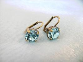 Traumhafte Ohrhänger, Swarovski Elemente, lt.Sapphire