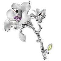Traumhafte   LILJA Sterling Silber Anhänger in Blütenform