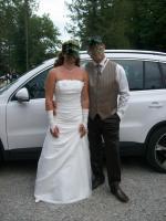 Traumhaftes Brautkleid in Creme g�nstig zu verkaufen