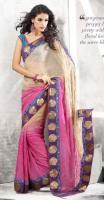 Traumhaftes Elegantes Net Saree (Sari) POORNIMA