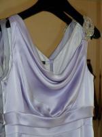Foto 3 Traumhaftes langes Abendkleid Seide Schulterschmuck Gr. 40 NEU