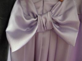 Foto 7 Traumhaftes langes Abendkleid Seide Schulterschmuck Gr. 40 NEU