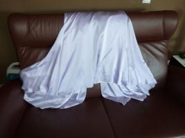 Foto 8 Traumhaftes langes Abendkleid Seide Schulterschmuck Gr. 40 NEU